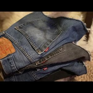 vintage levi 501 button fly denim shorts